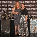 Lorraine De Klerk collects the Award for Outstanding Sprinter Female, giving to Midlands Thoroughbreds' Virgo's Babe.
