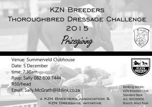 KZN Breeders Dressage Challenge Prizegiving
