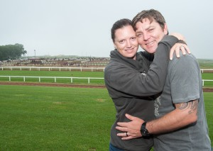Kelly Pretorius (Breeding manager at Summerhill Stud) and her husband Andries. Image: Adi Weerheim
