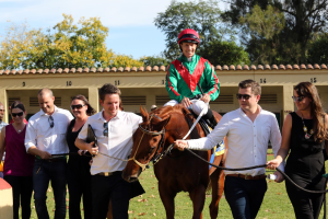Part owners' 3A Racing Syndicate lead in Royal Pleasure, owned with Team Valor. Image: Gold Circle