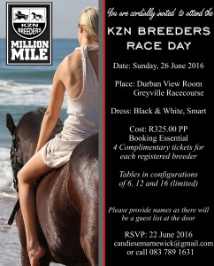 Invitation: KZN Breeders Race Day