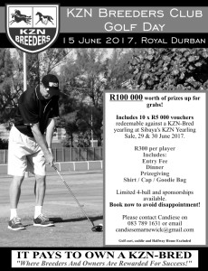KZN Breeders Golf Day 2017: Registration Form