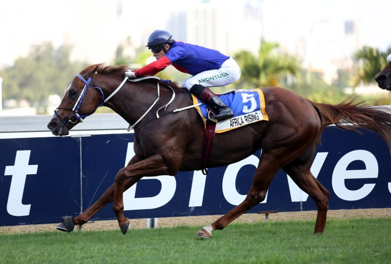 African Rising winning the Gr3 Byerley Turk. Image: Candiese Marnewick