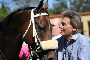 The Poet is greeted by Mr Denman in the winners enclosure at Scottsville. Image: Candiese Marnewick