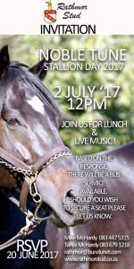 Invitation: Noble Tune Stallion Day