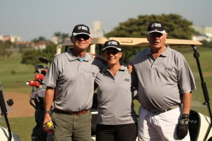 KZN Breeders Chairman Bruce Le Roux, his wife Delia and Pierre Du Toit.