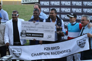 Alesh Naidoo was also a winner on KZN Breeders Race Day 2017 with Cutting Edge. Image: Candiese Marnewick