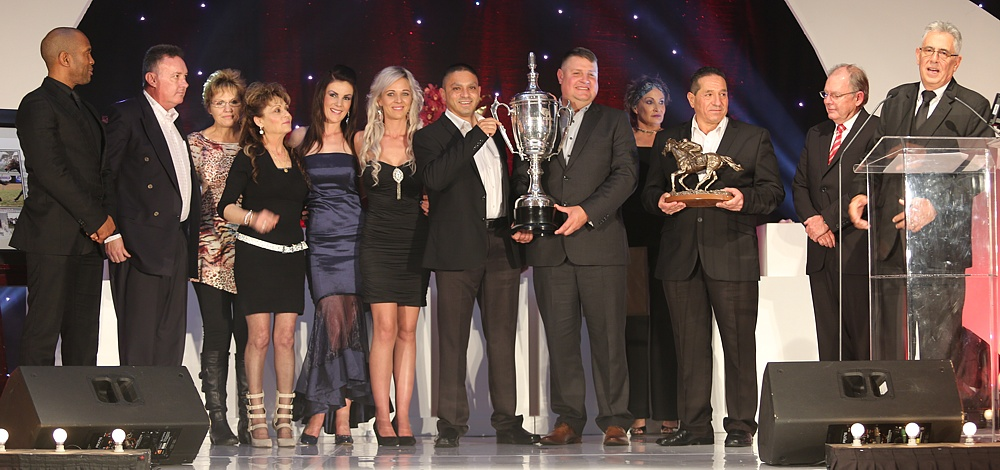 Bull Valley's connections collect the award for KZN Champion Horse Of The Season, Bull Valley. Image: Candiese Marnewick