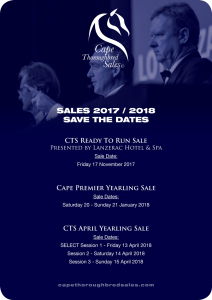 CTS 2017 / 2018 Sales Dates