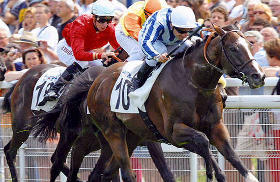 Eightfold Path the racehorse winning at Deauville.