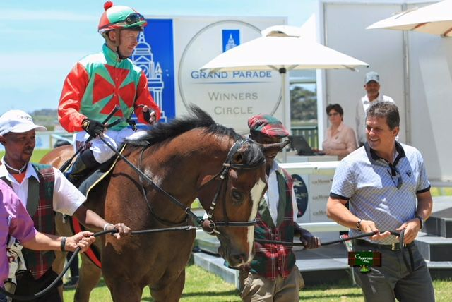 Rathmor-bred Pata Pata wins at Kenilworth yesterday. Image Supplied.