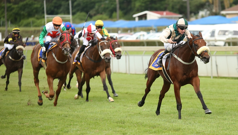 Cascada breaks away to win easily going away with lengths between her and the second horse. Image: Candiese Marnewick