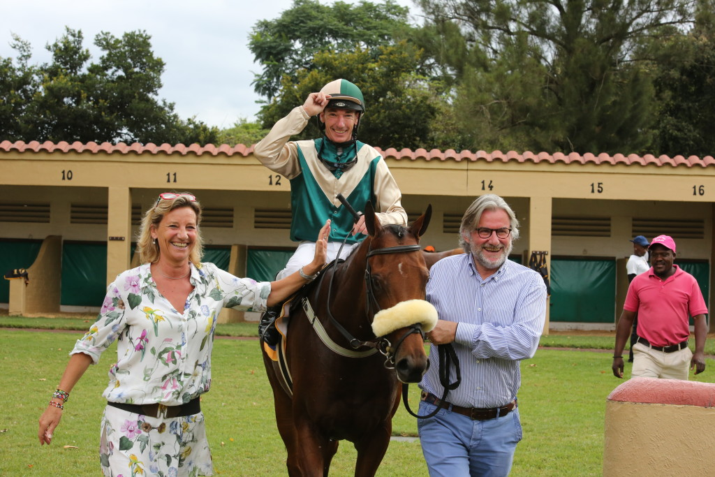 The Bozo's lead in Cascada, a truly international Thoroughbred story! Image: Candiese Marnewick