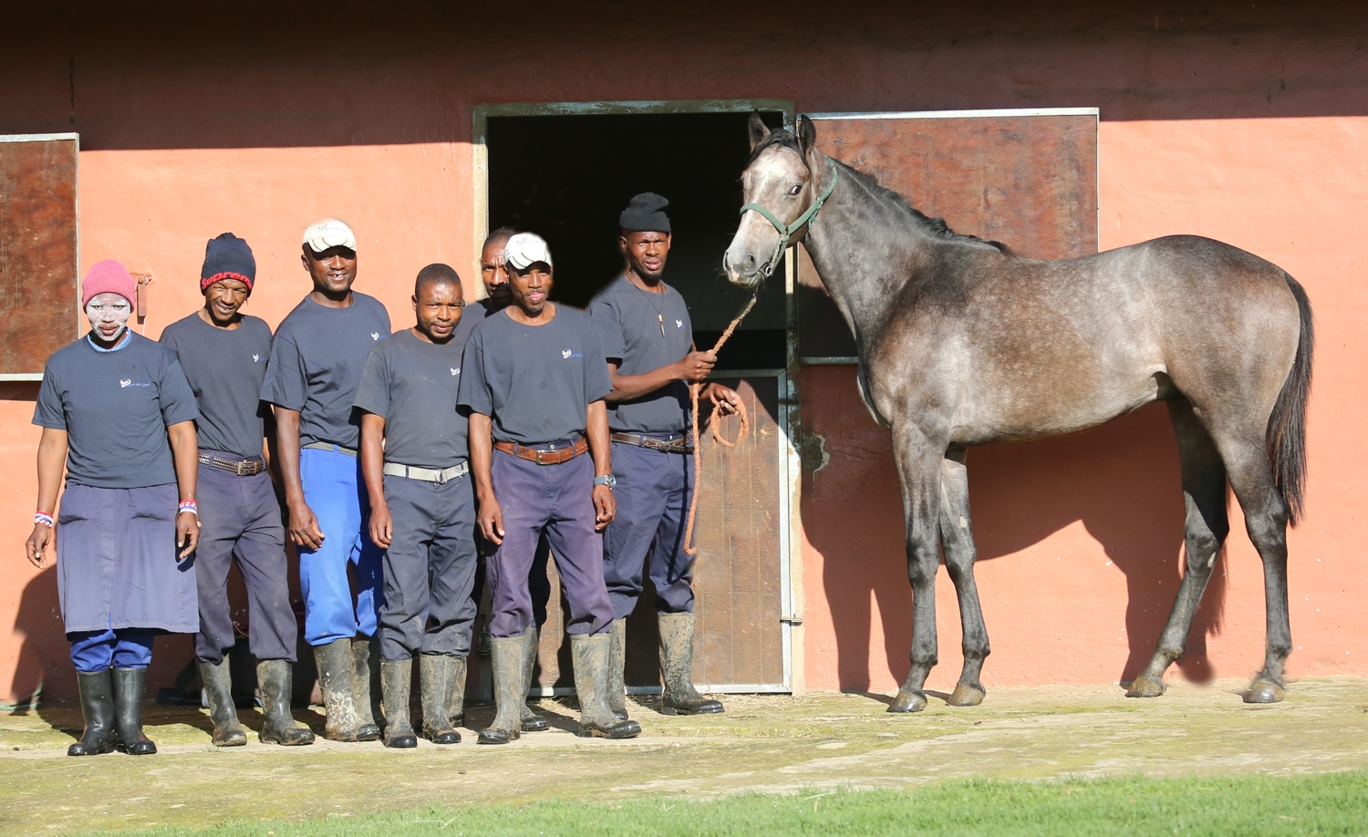 Proud Bush Hill staff with their Judpot colt. Image: Candiese Marnewick