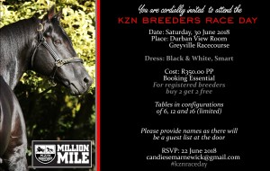 Invitation: KZN Breeders Race Day 2018