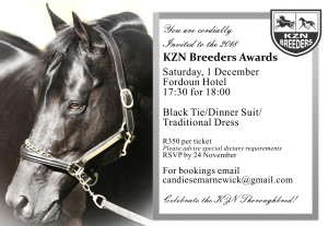 You Are Invited To The KZN Breeders Awards!