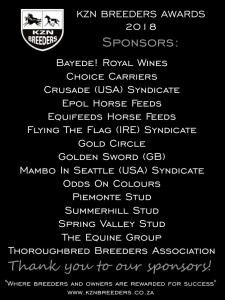 KZN Breeders Awards: Thank You To Our Sponsors!