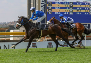 Hawwaam wins first time out at Turffontein in SA's debut 'hands and heels' race. Image: Candiese Marnewick