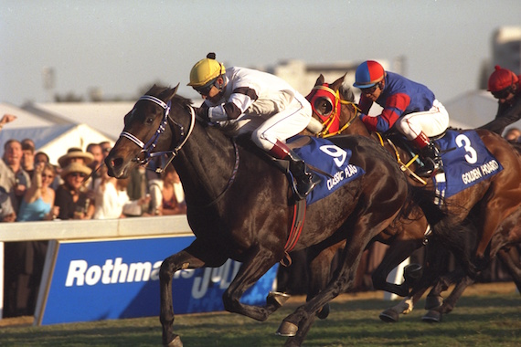 Classic Flag wins the 1998 Durban July.