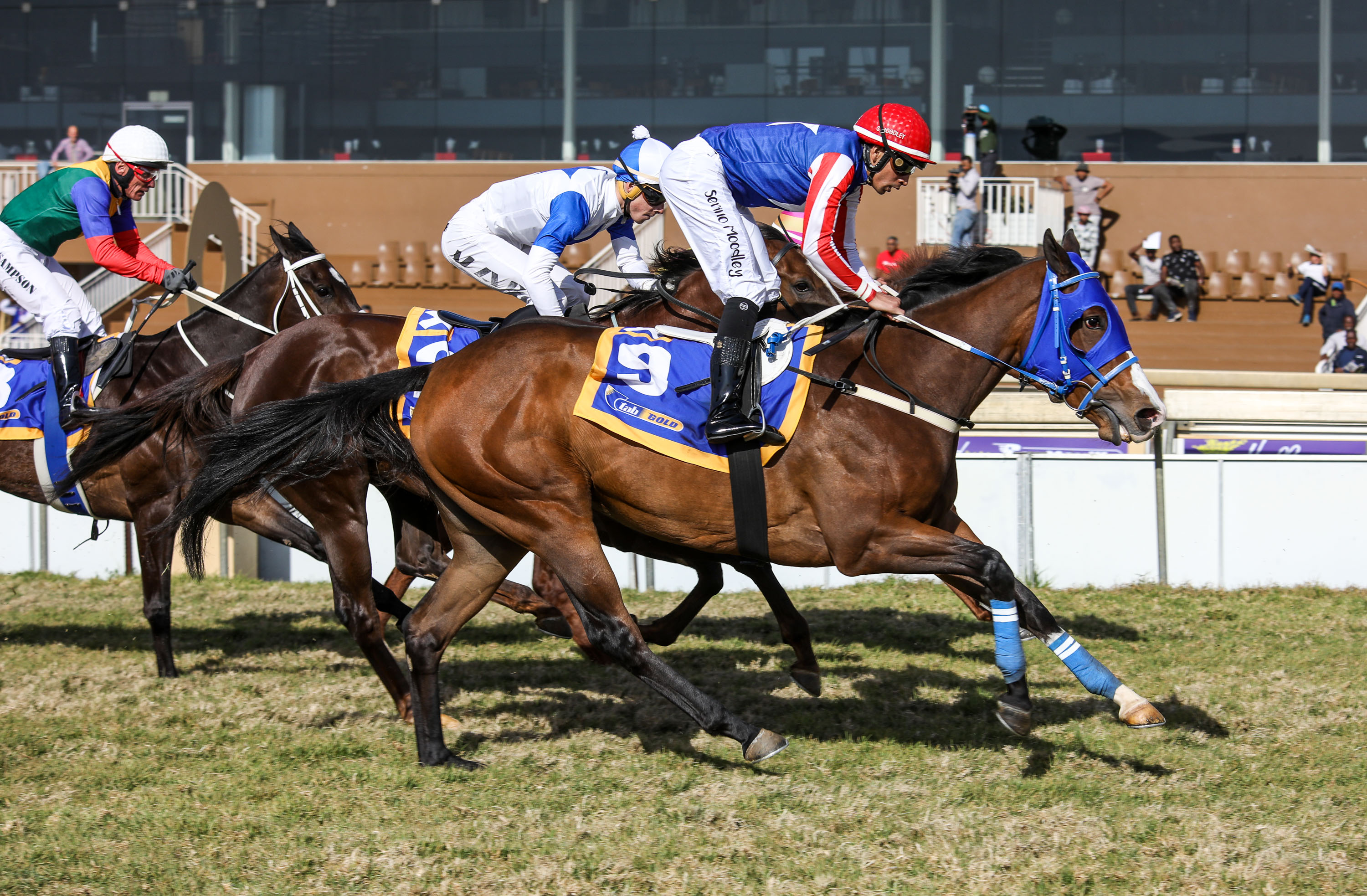 Carmella wins in the colours of Pierrick Maujeans PM Racing Syndicate. Image: Candiese Marnewick