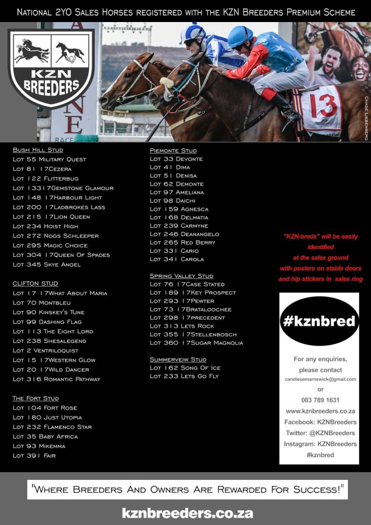 #kznbreds At The National 2YO Sale