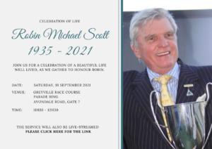 Passing of Breeding Stalwart Robin Scott